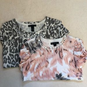 Embellished tops by INC